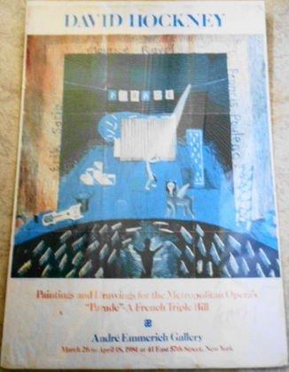 """1018: Original David Hockney """"Parade"""" Poster, signed"""