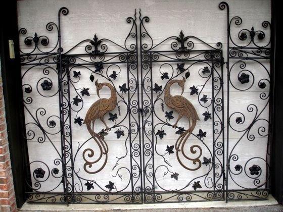 1002: Iron & Bronze Gates with Bird Embelishment