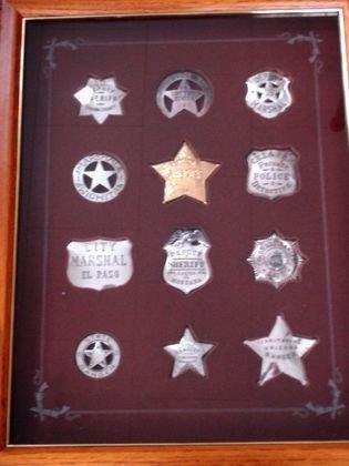 1006: Franklin Mint Replica Sheriffs Badges