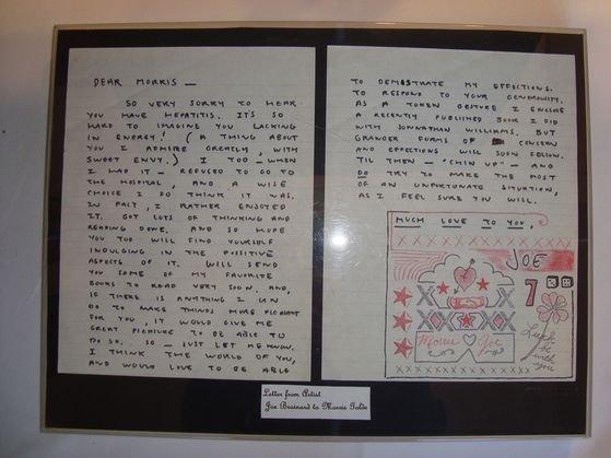 1018A: Joe Brainard Original Letter and drawing