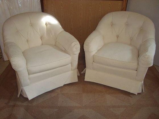 1013A: Pair Robert Allen Designer Upholstered Chairs