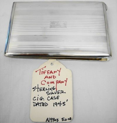1016: Tiffany & Co Sterling Cigarette Case