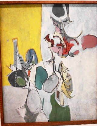 1062: Abstract Oil On Canvas, Signed: Ortman,