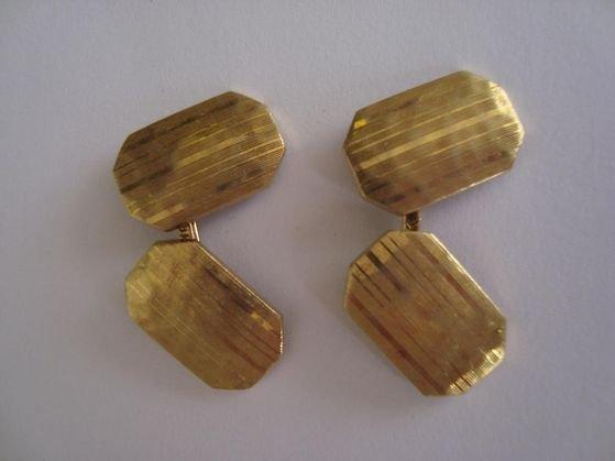 1007: Tiffany & Co 18k Gold Art Deco Cufflinks