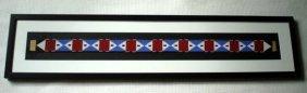American Indian Beaded Belt, Framed