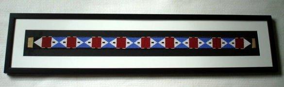 1009: American Indian Beaded Belt, Framed