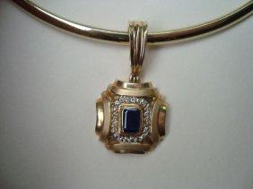 14k Gold Necklace & Drop  26.7 Grams