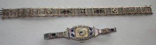 1015: Art Deco Bulova Watch & Signed Bracelet JHP