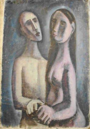 1034: William Baziotes (1912-1963) Oil Painting, Signed