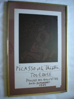 1010: Picasso 1965 Exhibition Lithograph Poster