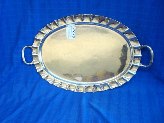 1009B: Mexican Sterling Silver Tray Juvento Lopez Reyes