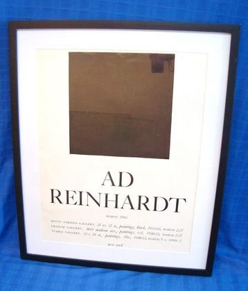 1010A: Ad Reinhardt Exhibition Litho1965, Betty Parsons