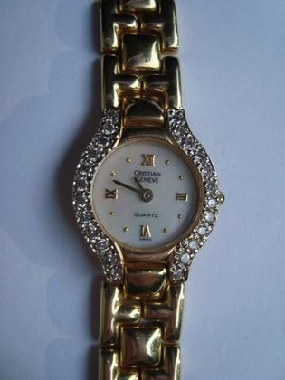 1015: Cristian Geneve 14K Gold & Diamond Watch