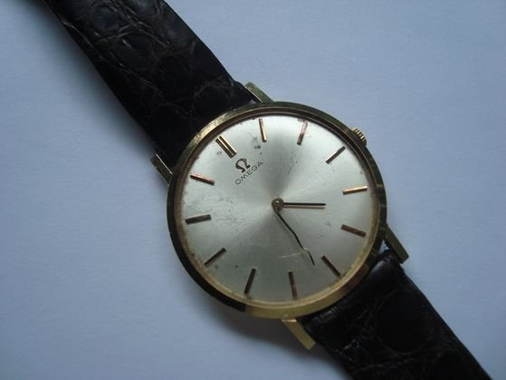 1016: 14K Gold Omega Men's Watch, as is