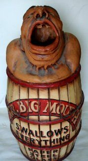 "1090: Vintage Circus ""Big Mouth"" Carnival Prop"