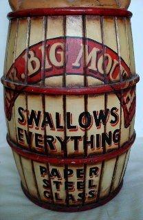 "1090: Vintage Circus ""Big Mouth"" Carnival Prop - 3"