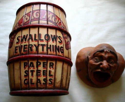 "1090: Vintage Circus ""Big Mouth"" Carnival Prop - 5"