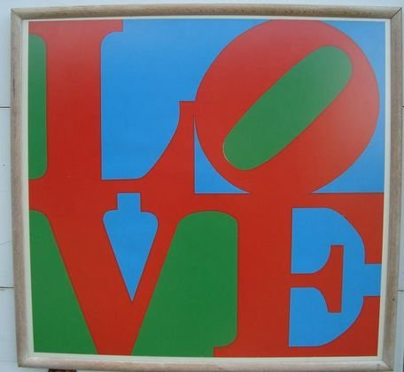 "1024: ROBERT INDIANA ""Love"" Silkscreen"