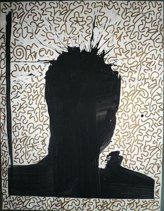 "1025: Richard Hambleton/LAII ""Shadow"" Painting"