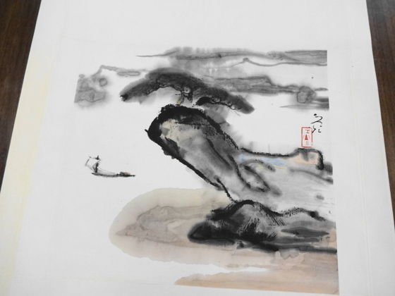 1076: Chinese Scroll Painting , Xie Zhe Guang