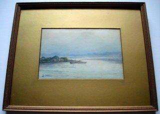 "1095: Satta ""Mount Fuji"" Japanese Painting"