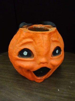 1001: Paper Mache Jack O Lantern, Halloween