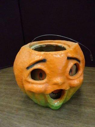 1004: Paper Mache  Jack O Lantern, Halloween