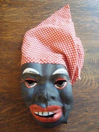 1009: 1950s Aunt Jemima Painted Cloth Mask