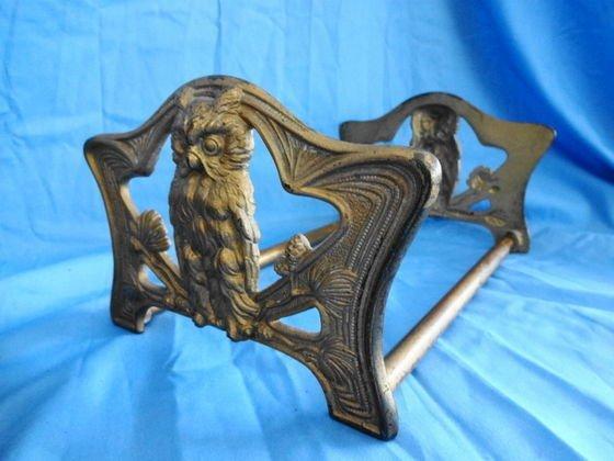 1011: Brass Art Nouveau Owl Bookholder, # 9776