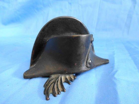 "1012: French Bronze Hat, ""La Verriere"" Paperweight"