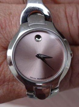 "1100A: Lady's Movado ""Kara"" Watch, Pink Face"