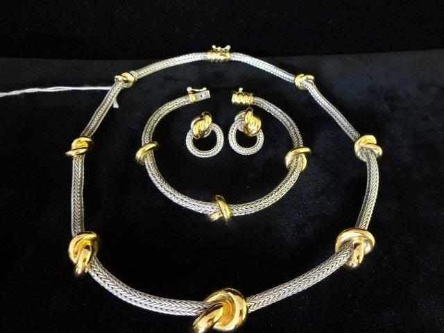 1006: Tane Sterling & 18k Gold Wash 3 Piece Set