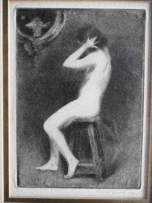 1025: Ernst Fuchs (Austrian 1930)  Etching, Nude