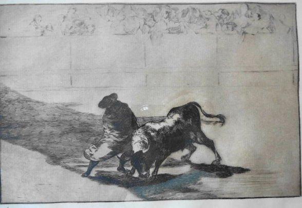 1027: Francisco Jose de Goya y Lucientes Etching,