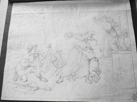 1029: Tommaso Minardi Pencil & Ink Sketch