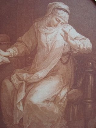 1031: 18th century engraving after Angelica Kauffman