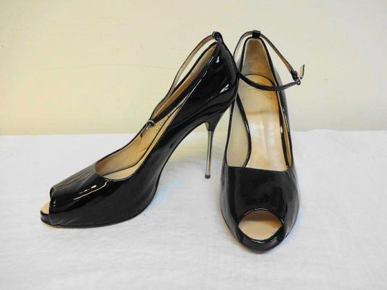 1009: Giuseppe Zanotti Patent Leather Peep Toe Shoes