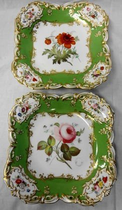 1015: 19th C. Hand Painted English Porcelain, 5 pc.