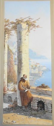 "1024: Y. Gianni, (Italy) ""Bay of Naples"", Signed"