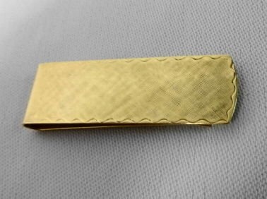 1004: 14k Gold Money Clip, 10.5 gr.