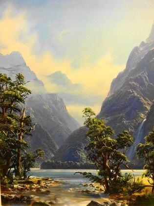 2034: Ivan Clarke (New Zealand) Oil on Canvas Landscape
