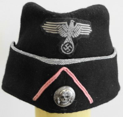 WW2 German SS Cap Silver Trim
