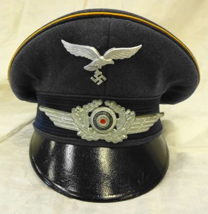 WW2 German Luftwaffe Bridge Cap