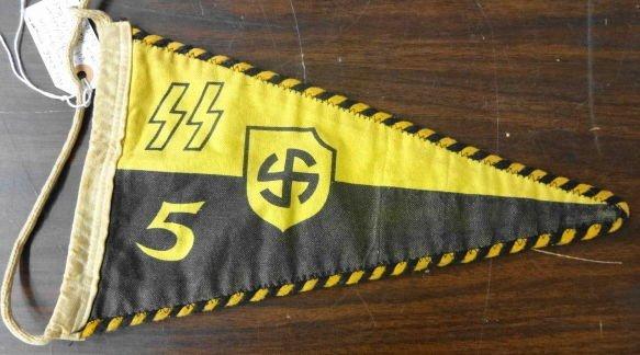 WW2  German Nazi Waffen SS Car Pennant
