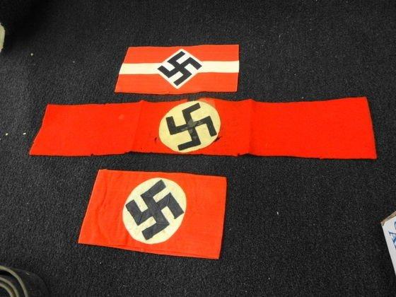 (3) WW2 German Nazi Armbands