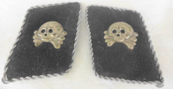 WW2 German SS Officer's Collar Tabs