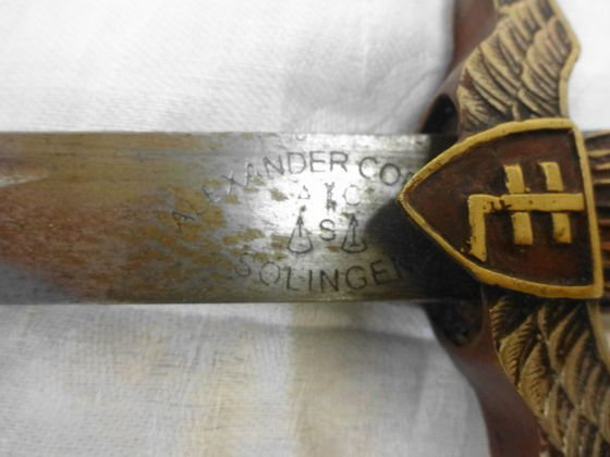 WW2 Officers Paratropper Dagger Hungary - 2