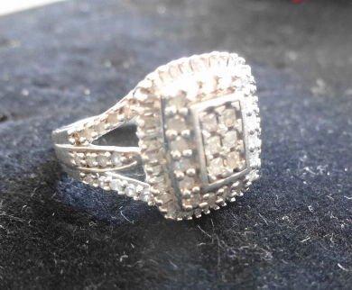Artisan Sterling & Diamond Ring, .5 ctw