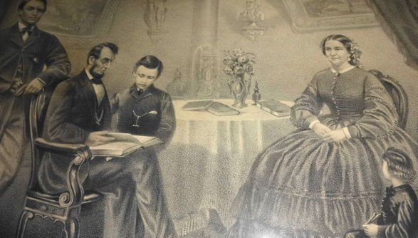 Abraham Lincoln and Family Engraving