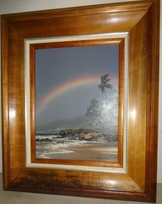 Hawaiian School Oil Painting, signed R. Gonzalez Tabora